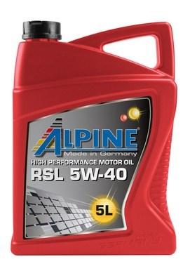 Масло моторное синтетическое Alpine RSL 5W-40, 5л